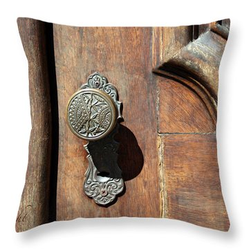 The Old Victorian Chic Throw Pillow by Yvonne Wright