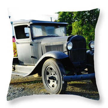 An Old Farm Truck  Throw Pillow by Jeff Swan