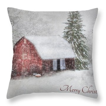 An Old Fashioned Merry Christmas Throw Pillow by Lori Deiter