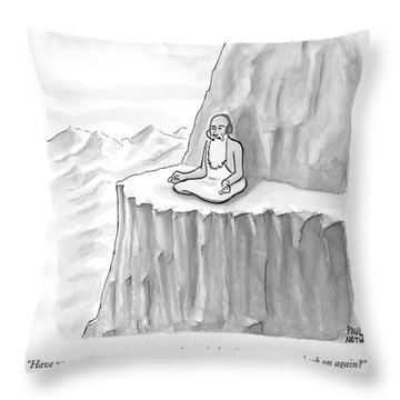 An Old Man Gives Metaphysical Advice Throw Pillow