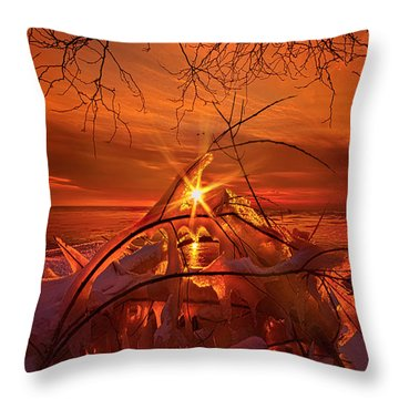 Icicles Throw Pillows