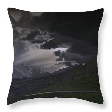 An Opening Throw Pillow by Thu Nguyen