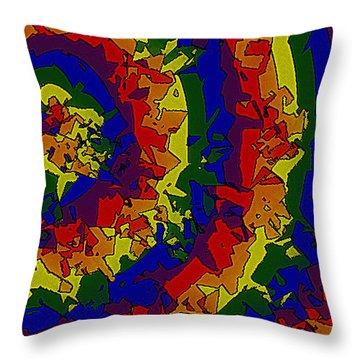 Throw Pillow featuring the digital art An Un-smooth Roundabout by Bartz Johnson