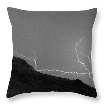 Throw Pillow featuring the photograph An Uphill Run by J L Woody Wooden