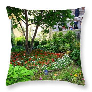 An Urban Oasis Throw Pillow by Dora Sofia Caputo Photographic Art and Design