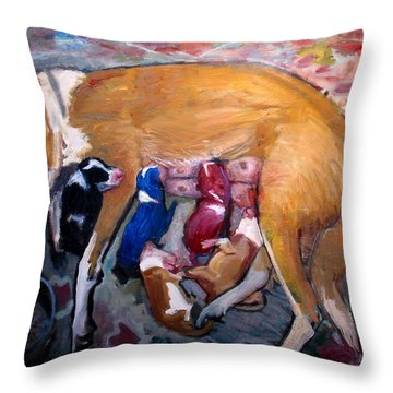 An005 Throw Pillow