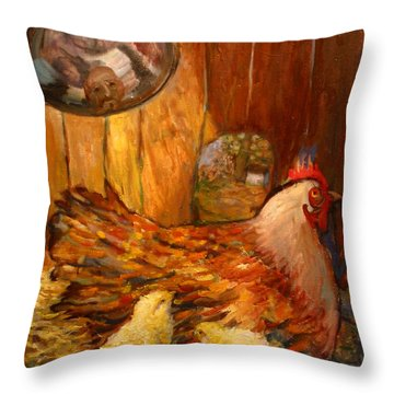 An025 Throw Pillow