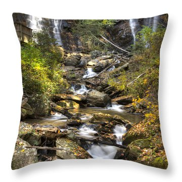 Ana Ruby Falls In Autumn Throw Pillow