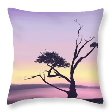 Throw Pillow featuring the digital art Anacortes by Terry Frederick