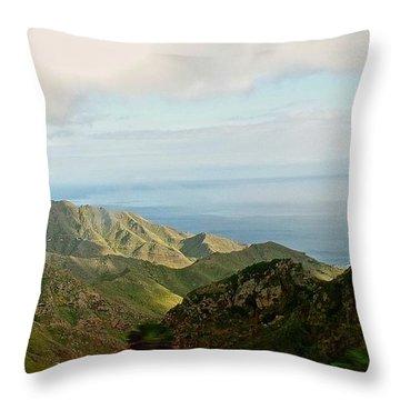 Anaga Mountains Tenerif Throw Pillow