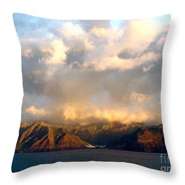 Anagna Mountains Tenerif Throw Pillow