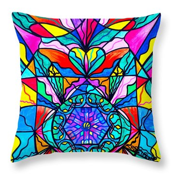 Anahata Throw Pillow