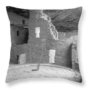 Anasazi Ruin At Mesa Verde Throw Pillow