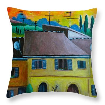 Ancient Volterra Wired Throw Pillow by Victoria Lakes
