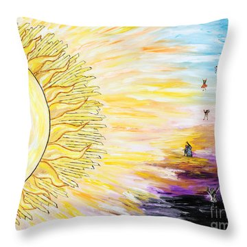 Anche Per Te Sorgera' Il Sole Throw Pillow