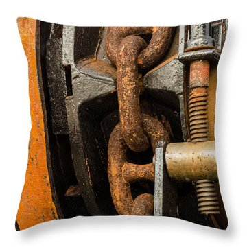Anchor Chain - Tall Ship Elissa Throw Pillow