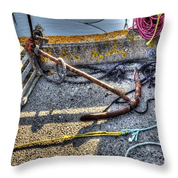 Anchor Throw Pillow by Shawn Everhart