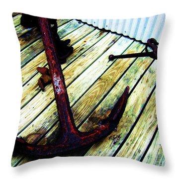 Anchor Throw Pillow by Venus