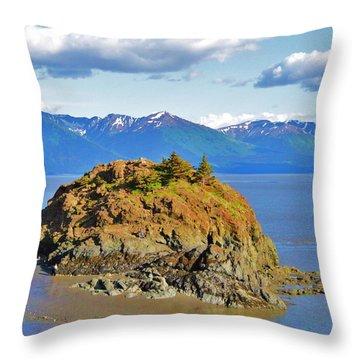 Anchorage Alaska Throw Pillow