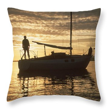 Throw Pillow featuring the photograph Anchored by Mark Alan Perry