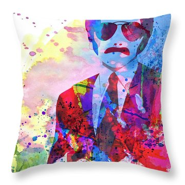 Anchorman Watercolor 2 Throw Pillow