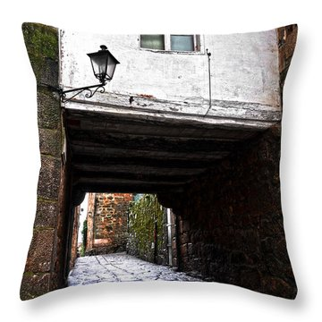 Ancient Alley In Tui Throw Pillow