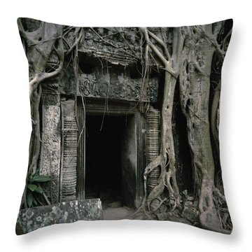 Ancient Angkor Throw Pillow by Shaun Higson