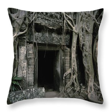 Ancient Angkor Throw Pillow