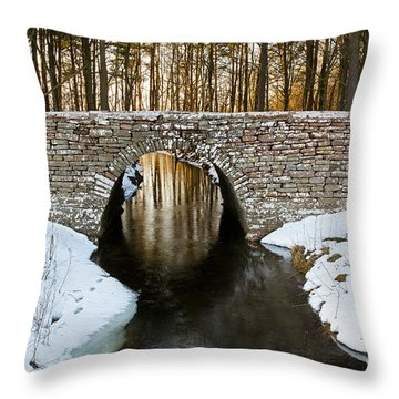 Ancient Bridge Throw Pillow