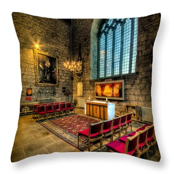 Ancient Cathedral Throw Pillow by Adrian Evans