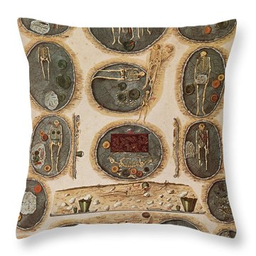 Ancient Celtic Cemetery Hallstatt Throw Pillow by Science Source