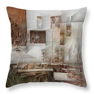 Ancient City 1 Throw Pillow by David Hansen