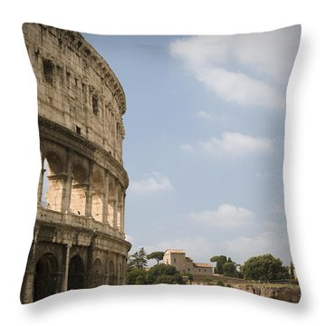 Ancient Colosseum Throw Pillow by Jeremy Voisey