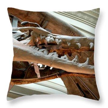 Ancient Crocodile Dinosaur Throw Pillow