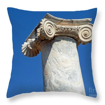 Ancient Delos Greece Throw Pillow