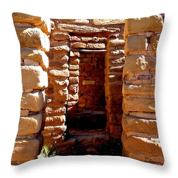Throw Pillow featuring the photograph Ancient Doorways by Alan Socolik