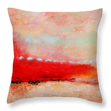 Throw Pillow featuring the painting Ancient Dreams by M Diane Bonaparte