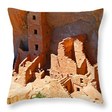 Ancient Dwelling Throw Pillow