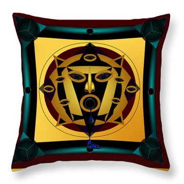 Ancient Eyes Throw Pillow