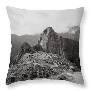 Ancient Machu Picchu Throw Pillow