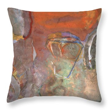 Ancient Orange Throw Pillow