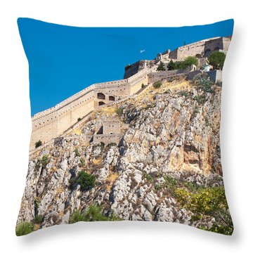 Ancient Palamidi Fortress Throw Pillow