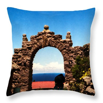 Throw Pillow featuring the photograph Ancient Portal by Suzanne Luft