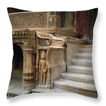Ancient Rajasthan Throw Pillow by Shaun Higson