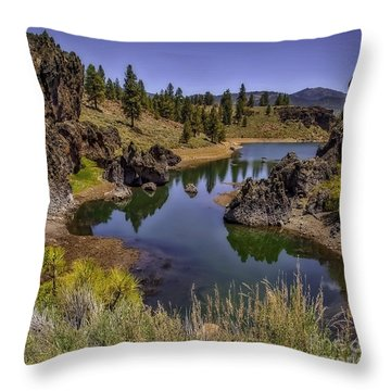 Ancient Reflections-edit Throw Pillow