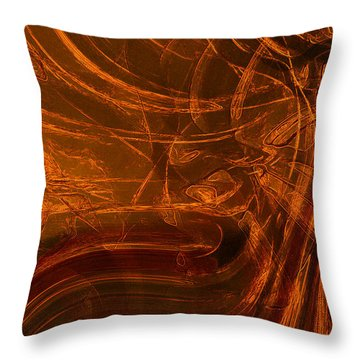 Throw Pillow featuring the digital art Ancient by Richard Thomas