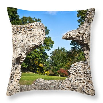 Ancient Ruins Throw Pillow