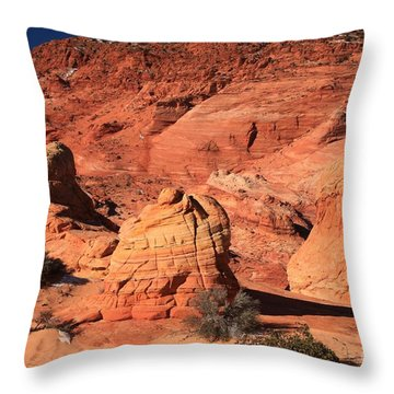 Ancient Sand Dunes Throw Pillow
