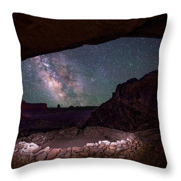 Throw Pillow featuring the photograph Ancient Skies by Dustin  LeFevre