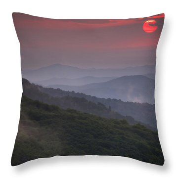 Ancient Smokies Throw Pillow by Serge Skiba